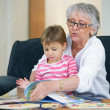 Stock Photo: Grandmother and child