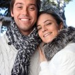 Couple wearing winter clothing — Stock Photo #8567528