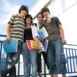 School friends outside — Stock Photo