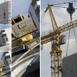 Collage of construction machinery — Stock Photo