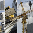 Foto Stock: Collage of construction machinery