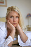 Portrait of a melancholy woman — Stock Photo