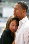 An interracial couple — Stock Photo