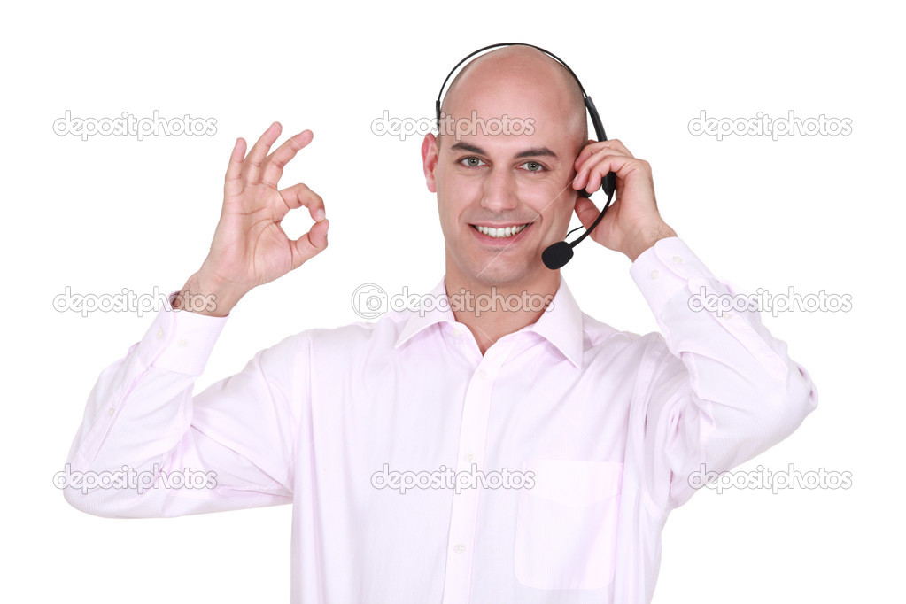 Man with microphone  Stock Photo #8563383