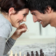 A chess dual — Stock Photo #8571162