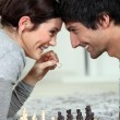Stock Photo: A chess dual
