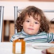 Young child waiting to eat breakfast — Stock Photo #8575720