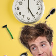 Office Clock Displaying 5 O'clock — Stock Photo