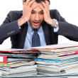 Stressed teacher - Stock Photo