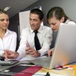 Businesspeople on an educational training — Stock Photo