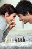 A chess dual — Stock Photo