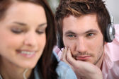 Man lusting after a woman — Stock Photo