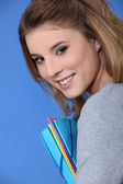 Feliz estudiante posando — Foto de Stock
