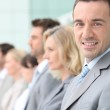 Business lined up — Stock Photo