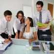 Stock Photo: Business group preparing proposal