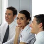 kobieta uczestniczących w spotkaniu biznes — Zdjęcie stockowe