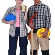 Pair of construction workers — Stock Photo #8581775