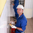Two electricians working — Stock Photo #8584039