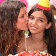 Foto de Stock  : Birthday Kiss