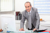 Portrait of a senior businessman — Stock Photo
