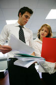 Unorganized business colleagues — Stock Photo