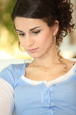 Woman deep in thought — Stock Photo
