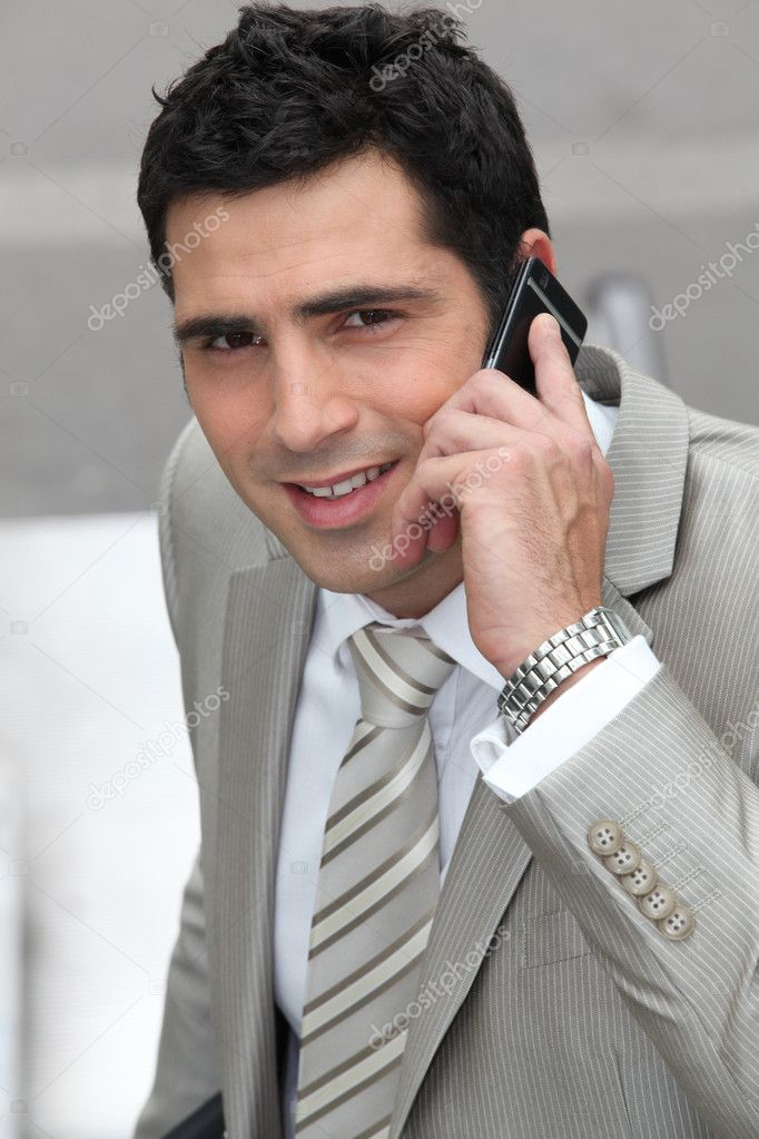 Closeup of a businessman with cellphone — Stock Photo #8580019