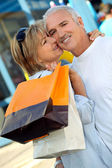 Husband and wife shopping — Stock Photo