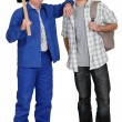 Duo of carpenters — Stock Photo #8651311