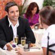 Couple in restaurant — Stock Photo #8652665