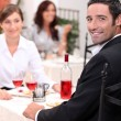 Couple dining — Stockfoto #8652687