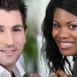 Stock Photo: Closeup of couple in their early thirties