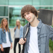Teenager with skate-board — Stock Photo