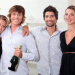 Stock Photo: Couples celebrating