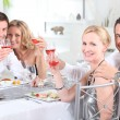 Couples at dinner — Stock Photo #8657127