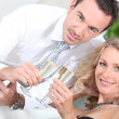 Couple drinking champagne — Stock Photo #8657190