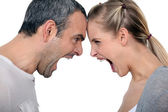 Angry couple — Stock Photo