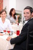 Couple dining — Stock Photo