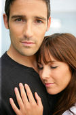 Tender couple hugging — Stock Photo