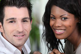 Closeup of a couple in their early thirties — Stock Photo