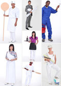 Miscellaneous shots of in professional outfit — Stock Photo