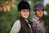 Cavalieri a cavallo — Foto Stock