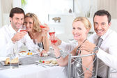 Couples at dinner — Stock Photo