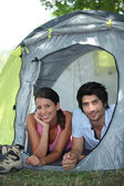 Couple of campers — Stock Photo