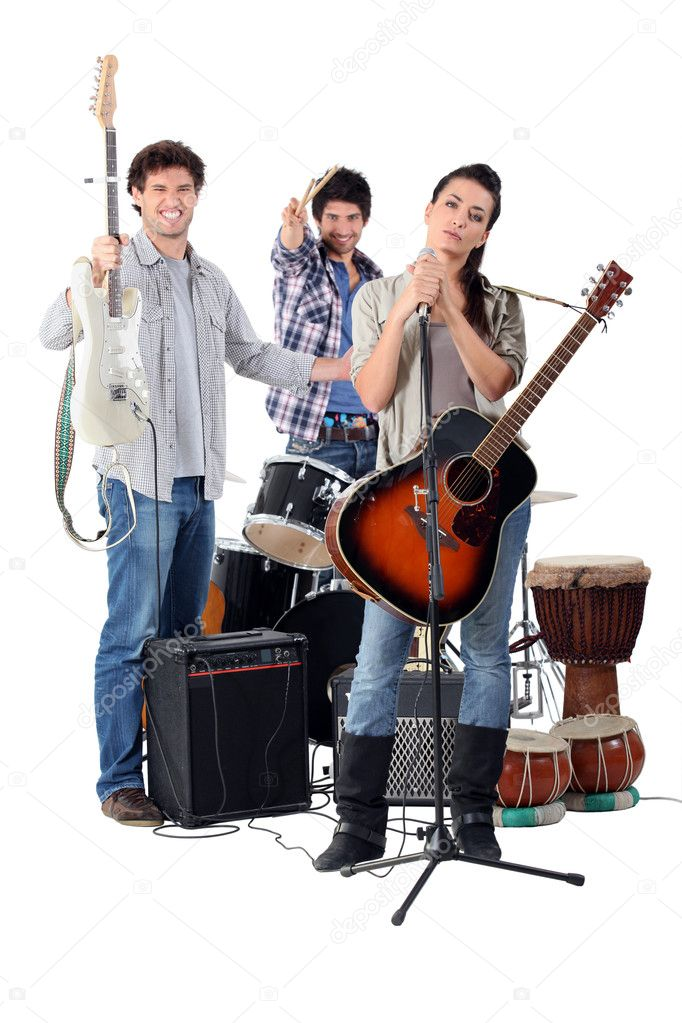 Group of musicians — Stock Photo #8656873