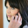 Businesswoman talking on her cell — Stock Photo