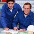 Two factory workers checking inventory — Stock Photo #8662862