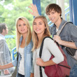 Students leaving — Foto Stock