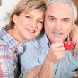 Senior couple embracing — Stock Photo #8669175