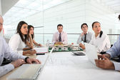 Work session in company — Stock Photo